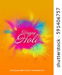 template design for colorful... | Shutterstock .eps vector #591406757