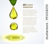 oil drop sequence with olive... | Shutterstock .eps vector #591418253