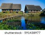resort area  danube delta ... | Shutterstock . vector #591438977