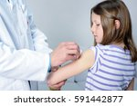 young girl is getting...   Shutterstock . vector #591442877