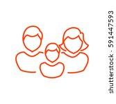 family icon flat. | Shutterstock .eps vector #591447593