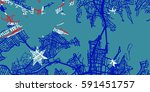 detailed vector map of sydney... | Shutterstock .eps vector #591451757