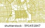 detailed vector map of adelaide ... | Shutterstock .eps vector #591451847