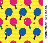 pop and colorful ping pong  ... | Shutterstock .eps vector #591456587