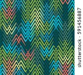 green geometric simple vector... | Shutterstock .eps vector #591456887