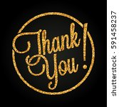 thank you lettering made of... | Shutterstock .eps vector #591458237
