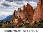garden of the gods in colorado... | Shutterstock . vector #591471047