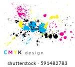 cmyk splatter design