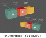 vector cube template for... | Shutterstock .eps vector #591483977