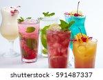 summer drink | Shutterstock . vector #591487337