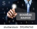 business man pointing hand on... | Shutterstock . vector #591496763