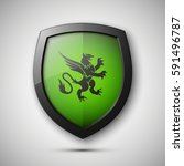 protection shield concept coat... | Shutterstock .eps vector #591496787