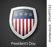 president's day shield banner... | Shutterstock .eps vector #591497213