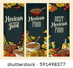vertical posters with mexican... | Shutterstock .eps vector #591498377