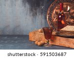 passover holiday concept with... | Shutterstock . vector #591503687
