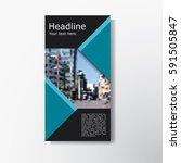 abstract brochure layout vector ... | Shutterstock .eps vector #591505847