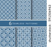 a pack of vintage pattern...   Shutterstock .eps vector #591506963