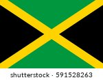 jamaica flag  official colors... | Shutterstock .eps vector #591528263