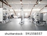 fitness hall with fitness...   Shutterstock . vector #591558557