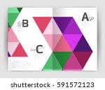 modern business brochure or... | Shutterstock .eps vector #591572123
