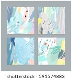 set of artistic creative... | Shutterstock .eps vector #591574883