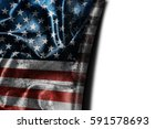 usa flag background with... | Shutterstock . vector #591578693