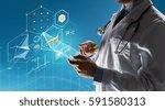 healthcare  people  technology... | Shutterstock . vector #591580313