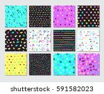 hand drawn seamless pattern... | Shutterstock .eps vector #591582023