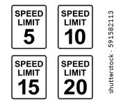 us speed limit sign set 5   20... | Shutterstock .eps vector #591582113