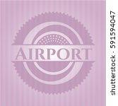 airport retro pink emblem | Shutterstock .eps vector #591594047