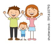 happy family members icon | Shutterstock .eps vector #591610793