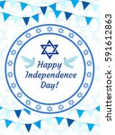 happy israel independence day... | Shutterstock .eps vector #591612863