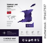 trinidad and tobago map vector... | Shutterstock .eps vector #591617537