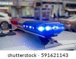 the roof mounted lightbar of... | Shutterstock . vector #591621143