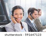 Portrait Of Smiling Customer...