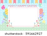cartoon happy easter great for... | Shutterstock .eps vector #591662927