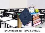 an empty classroom in the... | Shutterstock . vector #591669533