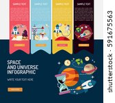 infographic space and universe | Shutterstock .eps vector #591675563