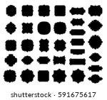 blank black borders and frames... | Shutterstock .eps vector #591675617