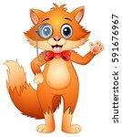 vector illustration of hipster... | Shutterstock .eps vector #591676967