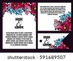 romantic invitation. wedding ... | Shutterstock . vector #591689507