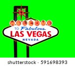 las vegas welcome sign isolated ...