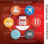 logistic and cargo info... | Shutterstock .eps vector #591709913