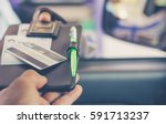 man with credit card opening... | Shutterstock . vector #591713237