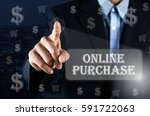 business man pointing his hand... | Shutterstock . vector #591722063
