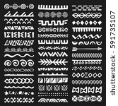 collection of hand drawn... | Shutterstock .eps vector #591735107