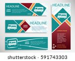 food truck icon on horizontal... | Shutterstock .eps vector #591743303