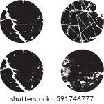 set of grunge textures.vector... | Shutterstock .eps vector #591746777
