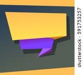 super origami banner against a...   Shutterstock . vector #591753257