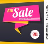 big sale and special offer...   Shutterstock . vector #591753287